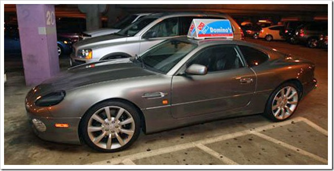 Aston Martin DB7 whoring for gas money