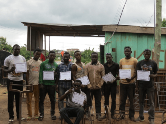 The men were awarded certificates after the Trainer of Trainers workshop.