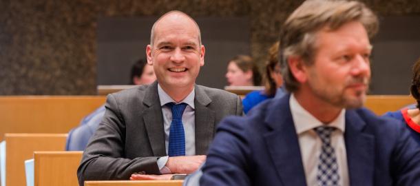 Joël Voordewind en Gert-Jan Segers zijn tegen het labelen van Israëlische producten. Beeld: ChristenUnie
