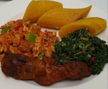 boiled plantain and vegetable recipe