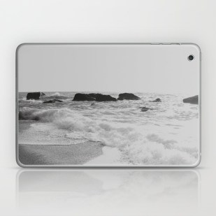 greek-seascape-black-and-grey-sea-rocks-ionia-island-lefkada-laptop-skins