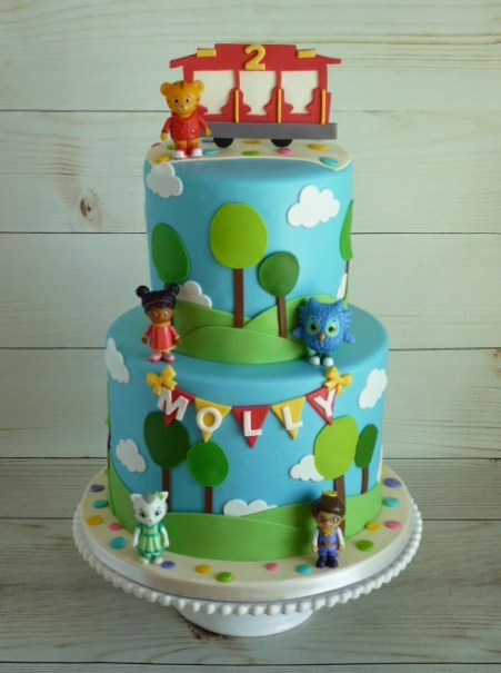 Two tier Daniel Tiger's Neighborhood cake