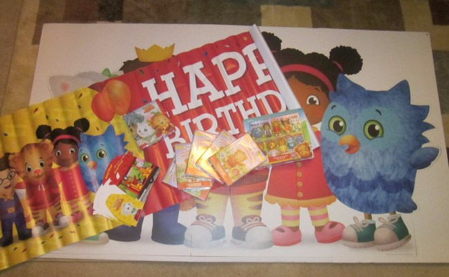 A few of the Daniel Tiger decorations we purchased for our daughter's party.