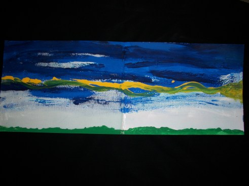 """emergence"" painting by Julia Walsh FSPA"
