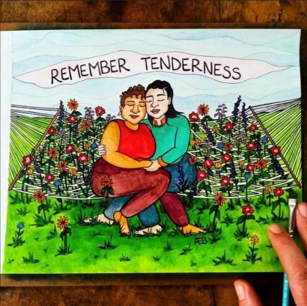 two-women-hammock-remember tenderness
