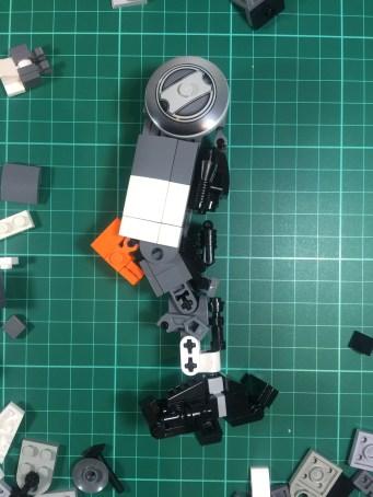 Leg work: Revised thicker leg design (side)