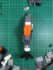 Leg work: early leg design (front)