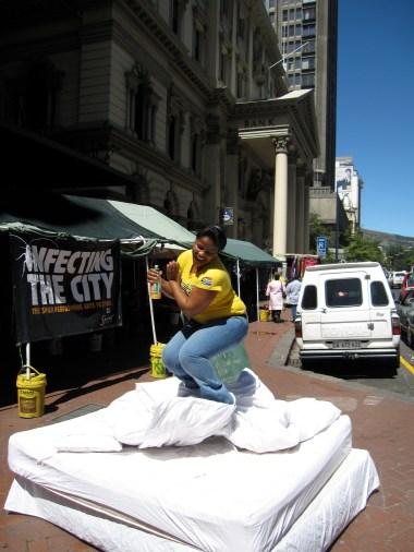 yellow mama with SA flag