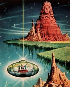 Extraterrestres Arte:Alex Schomburg -The Time Axis 1965