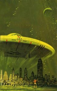 Dean Ellis - Cover art for Arthur C. Clarke's Childhood's End 1974