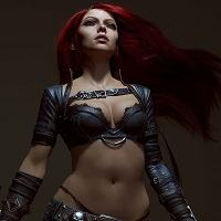 ZBrush - Katarina - League of legends Autor - Andy Brunning