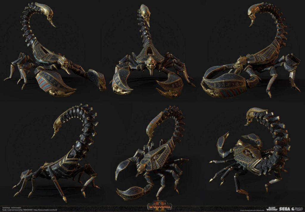 Total WarHammer II - Tomb Scorpions- Autor: Robin Benes