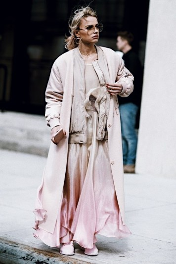 pink trend street style looks