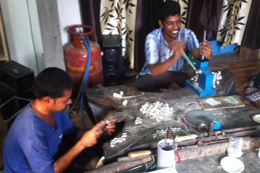 fabrication des bijoux argent et pierres