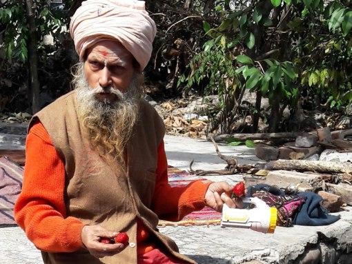 sadhu à Rishikesh