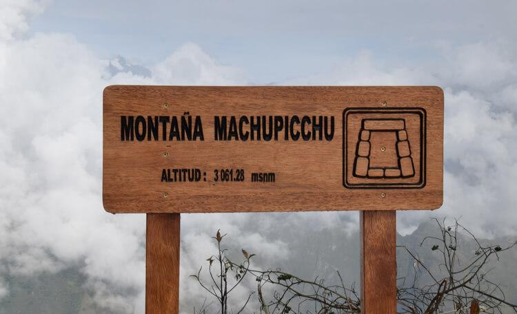 Altitude montagne machu Picchu