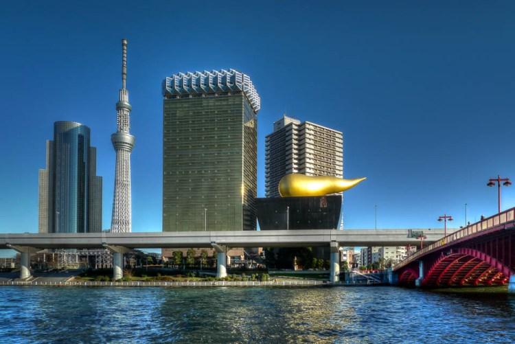 Asakusa-Tokyo-Skytree-Asahi-Headquarters-HDR