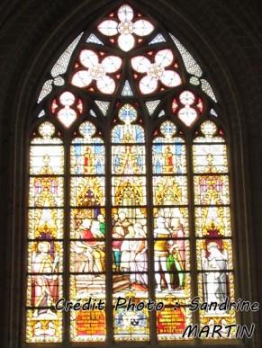 Bruxelles - Cathédrale, vitrail