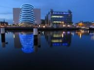 Dublin - Convention center, de nuit