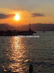 Péloponnèse - Napflio - Coucher du soleil sur le port