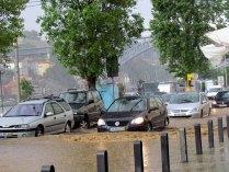 Porto - Innondation de 30 mn de pluie forte