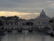 Rome - Depuis le Pont Umbertto - Saint Pierre