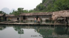 Yangshuo - Bicycle ride, along the river, village