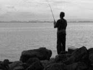 Ile Penang - Georgetown - Vue sur la mer - Pêcheur