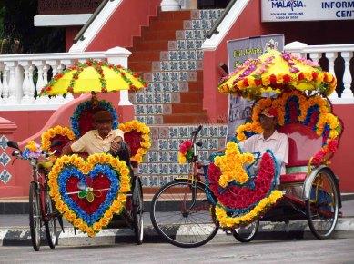 Malacca - Au hasard des rues, 'Trishaw', les plus kitch de Malaisie
