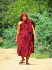 Bagan - Sur le chemin des temples, moine