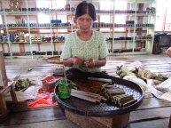 Lac Inle - Village, fabrication de cigarres