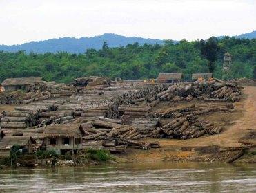 Voyage en bateau sur la Rivière Irrawaddy de Kata à Mandalay, bois de teck