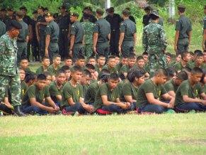 Ayutthaya - Parc, militaires