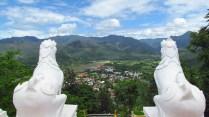 Mae Hong Son - Temple 'Wat Phra That Doi Kong Mu', vue