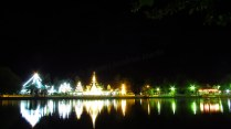 Mae Hong Son - Temples 'Wat Jong Kham & Wat Jong Klang' de nuit