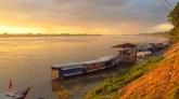 Thakek - Rivière Mékong, coucher du soleil