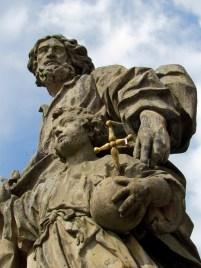 Wurtzbourg - Ancien pont 'Alte Mainbrücke', statues