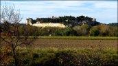 Gard - Villeneuve-Lez-Avignon - Balade le long du canal, vue sur le Fort Saint-André