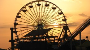 Californie - Los Angeles - Santa Monica - Coucher du soleil