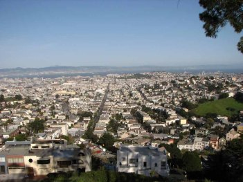 Californie - San Francisco - Vue depuis les Twin Peaks