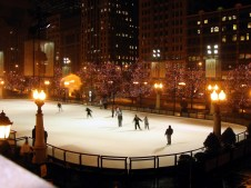 Ohio - Chicago - Millennium park - patinoire