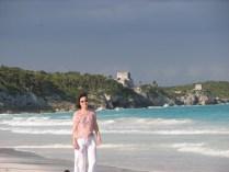 Quintana Roo - Tulum - La plage 'El Paraiso'