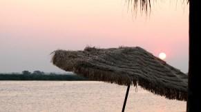 Veracruz - Tlacotalpan - Au bord de la rivière 'Papaloapan', coucher du soleil