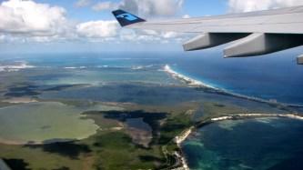 Vol au-dessus de Cancun
