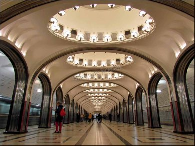 Moscou - Métro - Station Mayakovskaya