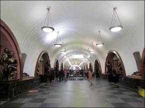 Moscou - Métro - Station Ploshchad Revolyutsii