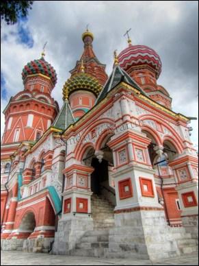 Moscou - Place rouge, cathédrale Saint-Basile