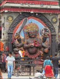 Katmandou - Durbar Square, monuments historiques, sculpture