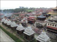 Katmandou - Temple de Pashupatinath, vue