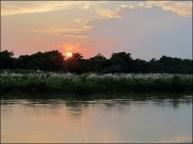 Parc national de Chitwan - Rivière 'Narayani-Rapti', coucher du soleil